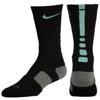 ナイキ メンズ バスケットボール【Elite Basketball Crew Socks】Black/Green Glow
