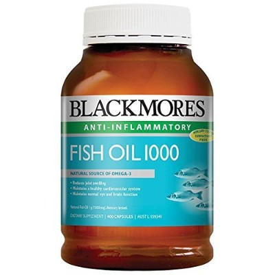 Blackmores Fish Oil 400 Caps 1000 Omega3 Dha, EPA Fatty Acids with 1pcs Chinese Knot Gift by...