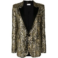 Saint Laurent sequin suit jacket - メタリック