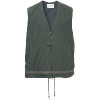 monkey time loose fit zipped vest - グレー