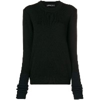 Y / Project ribbed trim sweater - ブラック
