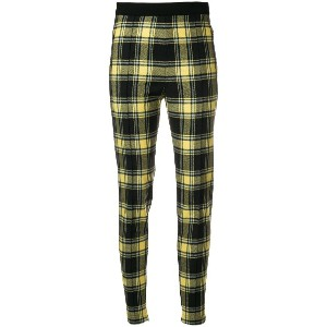 Ermanno Scervino plaid high-waist fitted trousers - ブラック