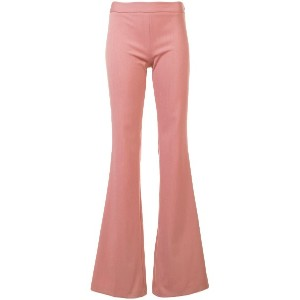 Giambattista Valli long flared trousers - ピンク&パープル