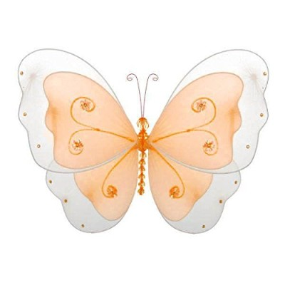 (Small/13cm x 10cm, Orange Creamsicle) - The Butterfly Grove Sasha Butterfly Decoration 3D Hanging...