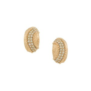 Christian Dior Vintage oyster shaped earrings - メタリック