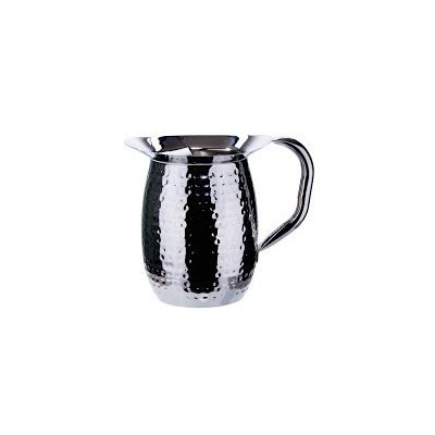 Winco wpb-3ch、3-quartステンレススチールベルPitcher with Ice Guard、Sophisticatedカラフェ, Hammered