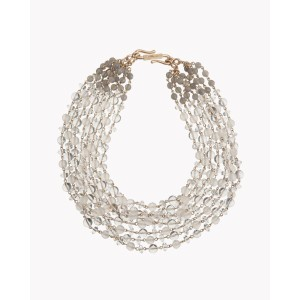 【Theory】Kong qi Clear Stone Necklace クリスタルxガラスの涼しげな表情が魅力の八連ネックレス。 その他 大人 セオリー