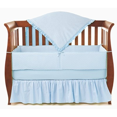 American Baby Company Heavenly Soft Minky Dot 4-Piece Crib Bedding Set, Blue by American Baby...