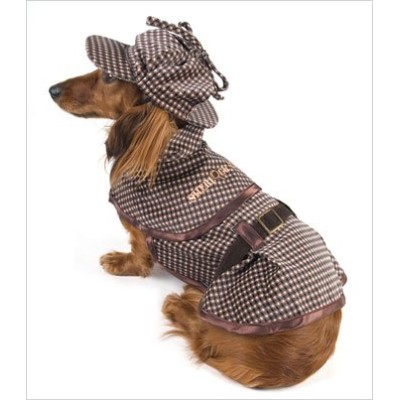 Sherlock Hound - Sherlock Holmes Costume for Dogs - Size 3 (10.75 x 14 - 16 g) by Puppe Love