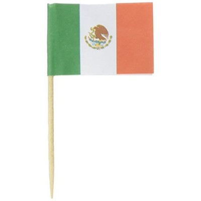 KingSeal Mexican Flag Toothpicks、2.5インチ–2パックof 144各( 288個合計アペタイザー、サンドイッチ用メキシコ国旗ピック、、カクテル、and More...