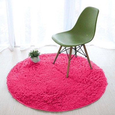 (Rose Red) - Lee D.Martin Children Area Rugs Ultra Cosy Round Rugs Kids' Room Decor Carpets Modern...