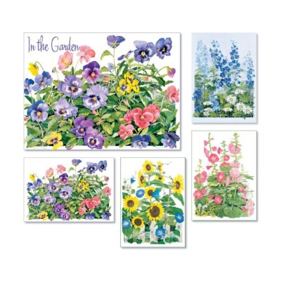 In the Garden - Box Set of 20 Assorted Note Cards and Envelopes by Julia Bell