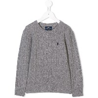 Ralph Lauren Kids cable knit jumper - グレー
