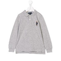 Ralph Lauren Kids longsleeved polo shirt - グレー