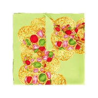 Chanel Vintage jewellery print scarf - グリーン
