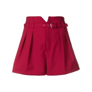 Red Valentino belted shorts - レッド