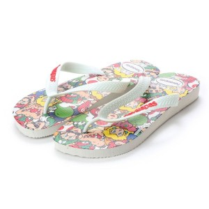 【SALE 20%OFF】ハワイアナス havaianas MARIO BROS (kids sizes) (white)