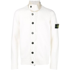 Stone Island button up cardigan - ホワイト