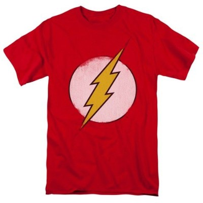 Trevco Dco-Rough Flash Logo - Short Sleeve Adult 18-1 Tee - Red, 5X