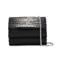 Rodo crystal embellished clutch bag - ブラック