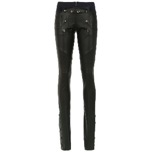 Andrea Bogosian leather skinny trousers - ブラック