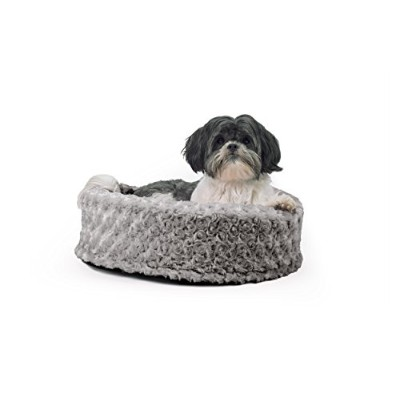 Furhaven Pet Plush Cup, Gray, 18 RND by Furhaven Pet