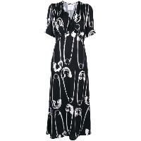 Moschino safety pin print dress - ブラック