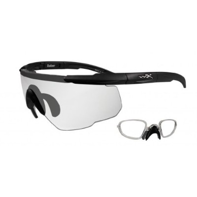 Wiley X Saber Sunglasses Clear/Matte Black W/Rx Insert 303RX by Wiley X