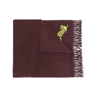 Kenzo tiger embroidered scarf - ピンク&パープル