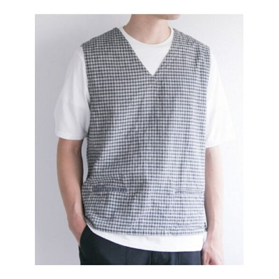 【SALE/40%OFF】URBAN RESEARCH FREEMANS SPORTING CLUB JP C/L CHECK VEST アーバンリサーチ カットソー【RBA_S】【RBA_E】...