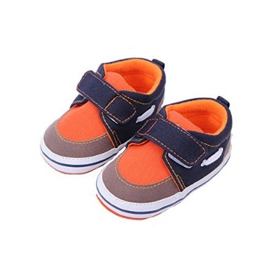 Rainbow-lee Baby Toddler Shoes Anti-Slip Comfort Soft Cotton Crib Shoes First Walker Shoes Fit for 0-1 Year Baby Boys/Girls (11.5cm, orange) by Rainbow-Lee