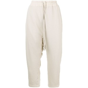 Rick Owens DRKSHDW loose cropped trousers - ヌード&ナチュラル