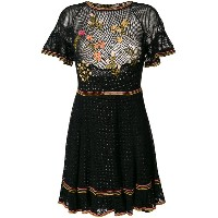Red Valentino embroidered floral dress - ブラック