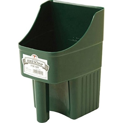 Little Giant 3-Quart Enclosed Feed Scoop, Green by Little Giant Outdoor Living