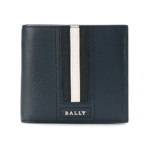 Bally colour block bi-fold wallet - ブルー