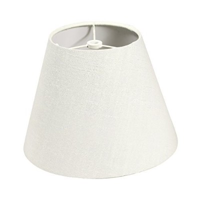 (White) - Lamp Shade IMISI Linen Fabric White Lamp Shade Small 7 x 13cm x 24cm (White)