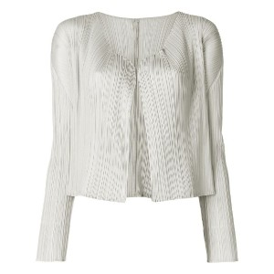Pleats Please By Issey Miyake pleated soft jacket - ニュートラル