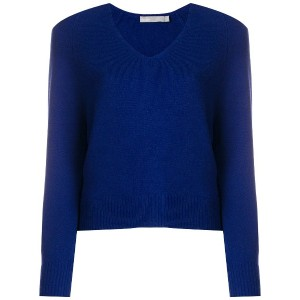 Vince long-sleeve fitted sweater - ブルー