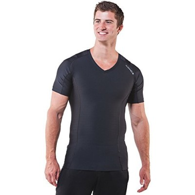 AlignMed Men's Posture Shirtテつョ 2.0 (XLarge, Black/Black) by AlignMed
