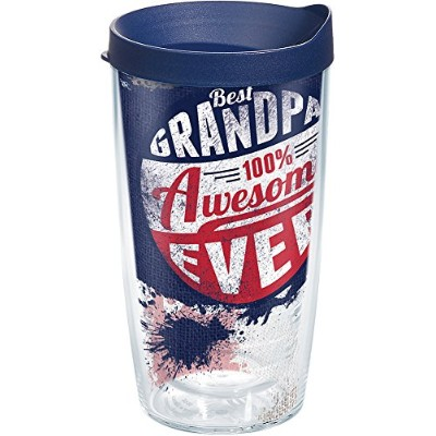 Tervis 16オンスBest Grandpa Ever Tumbler with Lid 16オンストラベルタンブラー