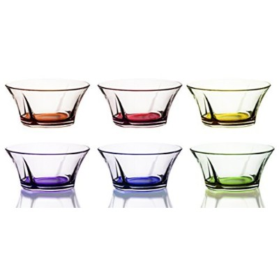 Mini Colored Glass Round Serving / Prep Bowls、101/ 2オンス–セットof 6