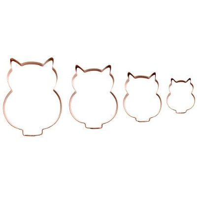 (set of 4) - Owl Cookie Cutter by The Fussy Pup (set of 4)