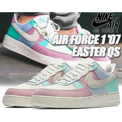 "NIKE AIR FORCE 1 '07 QS ""EASTER"" ice blue/sail-hyper turq-blue glace 【ナイキ エア フォース 1 スニーカー メンズ AF1..."
