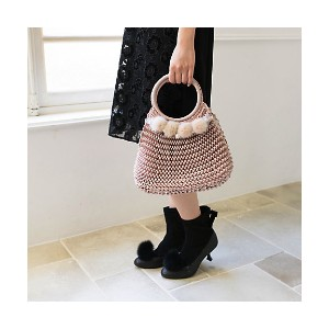 【SALE(伊勢丹)】 TO BE CHIC/TO BE CHIC  ニットBAG(W5108800__) ピンク 【三越・伊勢丹/公式】 バッグ~~ハンドバッグ