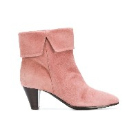 Via Roma 15 heeled foldover ankle boots - ピンク&パープル