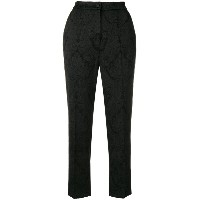 Dolce & Gabbana jacquard lace effect trousers - ブラック