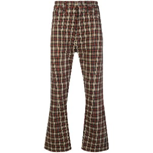 Junya Watanabe Comme Des Garçons Vintage checked bootcut trousers -