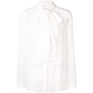 Dondup star embroidered bow blouse - ホワイト