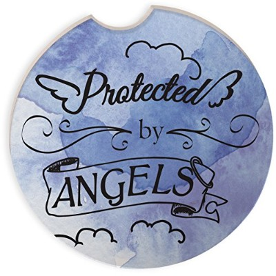 Angelstar 13472 Protected by Angel Auto Coaster, Multicolor