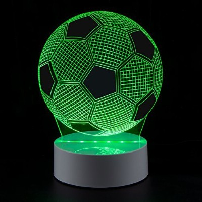 美しいUp 3d Optical Illusion Night Light 7 colors-changingランプLEDテーブルライト